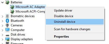 LaptopBattery_Uninstall Device